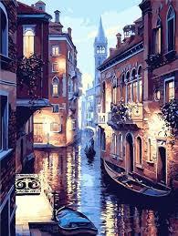 <b>Venice</b> Night <b>Landscape</b> – Paint by numbers – Ninja Junction in ...