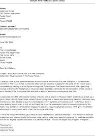 Sample Application Letter For Firefighter