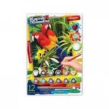 <b>Картина</b> по номерам <b>Danko</b> Toys средняя Попугаи KN-03-02 ...