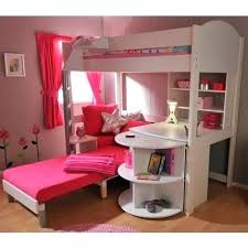 bunk bed with desk and couch. Bunk Bed Couch Desk Beds For Girls With Lofted Storage And