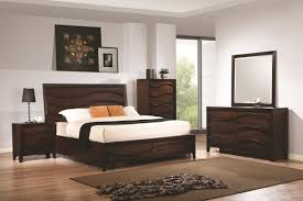 Oak Bedroom Sets King Size Beds Coaster 203101kw Brown California King Size Wood Bed Steal A