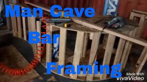 Make a man cave bar framing Rough carpentry DIY YouTube