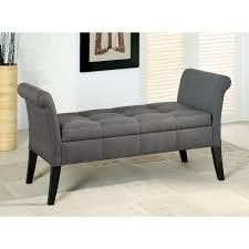 furniture of america alistar fabric upholstered storage accent