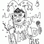 Small Picture Mardi Gras Coloring Pages for Kids Free Printable Mardi Gras