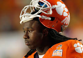 Sammy Watkins #2 of the Clemson Tigers looks on during warm ups against the West Virginia Mountaineers during the Discover Orange Bowl ... - Sammy%2BWatkins%2BDiscover%2BOrange%2BBowl%2BWest%2BVirginia%2BaeyjPTZ61fMl