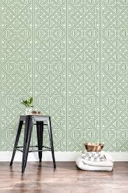 l and stick tile wallpaper green