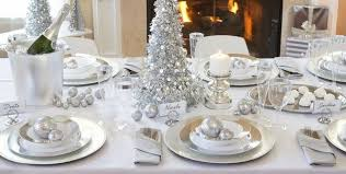 Amazing christmas table decorations silver white christmas theme christmas  party ideas table decoration ideas