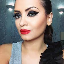 black smoked out liner and red lips rihanna harpers bazaar cover inspired makeup you eye
