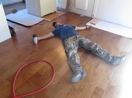 relaking after installing an engineered hardwood floor