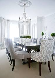 add interest by varying fabric for your dining room chairs within a color scheme find