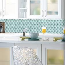 blue mosaic tile backsplash. Interesting Tile Blue Mosaic StickTiles Intended Tile Backsplash U