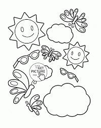 Small Picture Tool in the Summer coloring page for kids seasons coloring pages