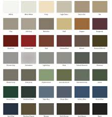 Snow Guard Color Chart Levis Building Components