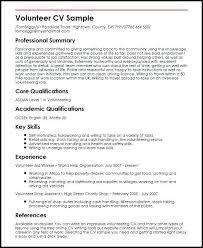 Volunteer Experience Resume Sample Church Volunteer Resume Resume