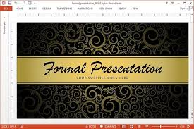 Formal Ppt Templates Animated Powerpoint Template For Formal Presentations