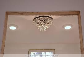 flush mount light for a slanted ceiling