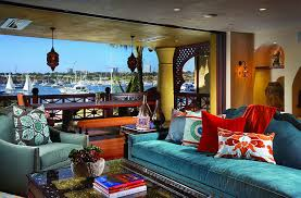 View in gallery A colorful and stunning getaway with a bay view