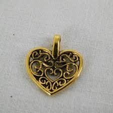 10 filigree heart