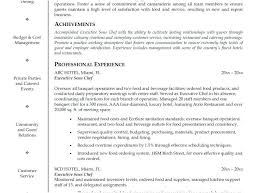Personal Chef Resume Endearing Personal Chef Resume Adorable Pastry