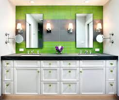 bathroom mirror frame tile. Plain Tile Mirrored Backsplash Bathroom Rectangular Mirror Frame Glass Tile  Wall Brushed Nickel Sconces White Cabinet In Bathroom Mirror Frame Tile