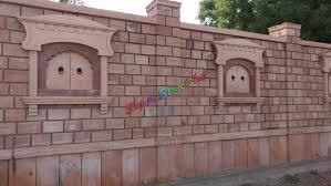 stone compound wall wall idea design compound wall stone