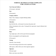 Printable Doc Sample Formal Business Letter Free Pdf Template Download