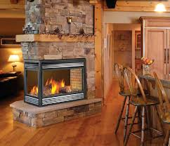 2 sided wood burning fireplace insert two