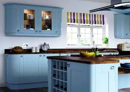 blue kitchen cabinets 2 color kitchen cabinets pictures