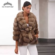 Real <b>Fox Fur Coat</b> With Hood Men Winter Fashion <b>Natural Fur</b> ...