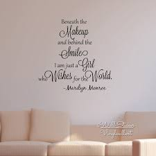 Wall Quotes Enchanting Girls Quote Wall Sticker Inspirational Marilyn Monroe Quote Wall