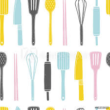 cooking utensils wallpaper.  Cooking Hand Drawn Seamless Pattern With Kitchen Utensils On The White Background  Cooking Vector Repeating Background Throughout Utensils Wallpaper L