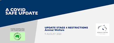 Check your local state or territory website for directives and travel restrictions. Covid 19 Release Additional Update To Stage 4 Restrictions Equestrian Victoria