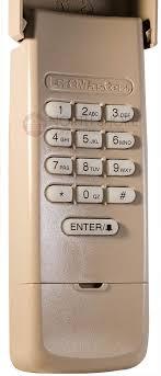liftmaster wireless rolling code garage door opener keypad at