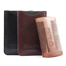 <b>Bluezoo Black Gold Sandalwood</b> Double-sided Beard Comb Beard ...