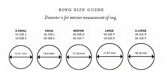 Alphabet Ring Size Chart Size Guide