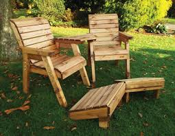 quality wooden garden furniture lounger set with 2 chairs 2 footstools and detachable angle tray