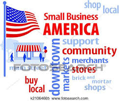 american flag word art clipart of small business america usa flag k21064665 search clip