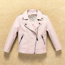 toddler pink leather jacket baby boy spring fashion casual for children clothing infant outerwear kids coat