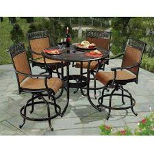 bar height patio chair: seabrook  piece patio high dining set