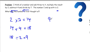 maths problem solving strategies working backwards algebra solving exponential equations