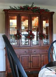 ideas china hutch decor pinterest: atta girl says  christmas home tour amp holiday decorating ideas love this idea for the