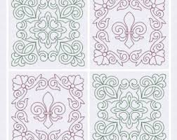 Fleur de Lis Quilt Block Machine Embroidery Design & Quilt Blocks, Quilting, Trapunto, Fleur de Lis, Machine Embroidery Design,  Digital Adamdwight.com