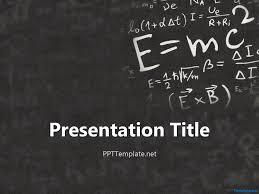 Math Templates Math Presentation Template Math Templates Free Einstein Physics Ppt