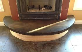 concrete fireplace hearths acid stained hearth ideas