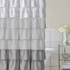 full size of architecture nice white ruffle shower curtain 33 magnificent grey curtains and whimsy girl