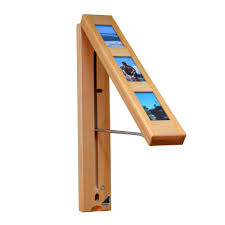 instahanger picture perfect wood wall mounted clothes storage system natural pine with 12 in chrome