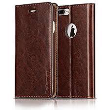 belemay iphone 7 plus wallet case genuine cowhide leather case wallet slim fit shockproof flip cover folio book style card holder slots kickstand