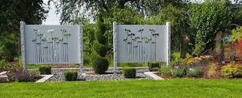 Garten Sichtschutz Garten Sichtschutz Weinrebe Barock Metall