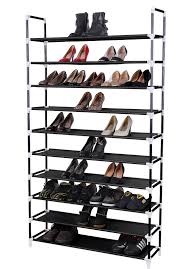 Home Basics 10 Tier Coated Non Woven Shoe Rack Songmics 100 Tier 100 Pair Stackable Shoe Rack Reviews Wayfair 64
