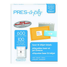 Avery 3 1 3 X 4 Template Amazon Com Pres A Ply 3 1 3 X 4 Inches Laser Labels White 600